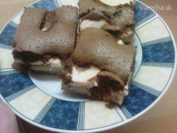 Tvarohovo - jablkový koláč