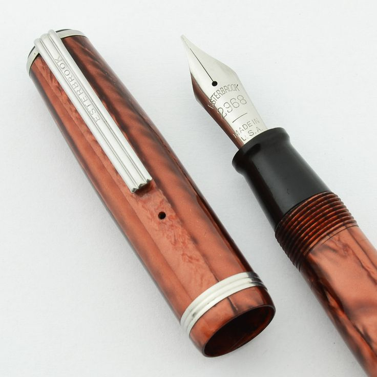 Esterbrook J Fountain Pen - Copper, 2968 Firm Broad Nib (Superior, Restored) | Vintage Fountain Pens - Parker, Sheaffer, Waterman
