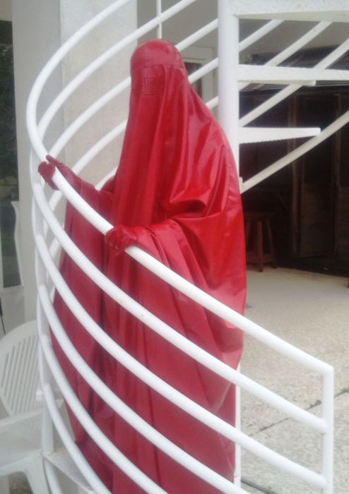 Red Latex Burka
