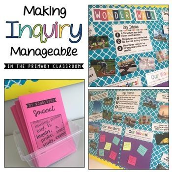 Inquiry Bulletin Board -Wonder Wall for Ontario Curriculum!  Check out the fun ways to add inquiry to your classroom in a manageable way!