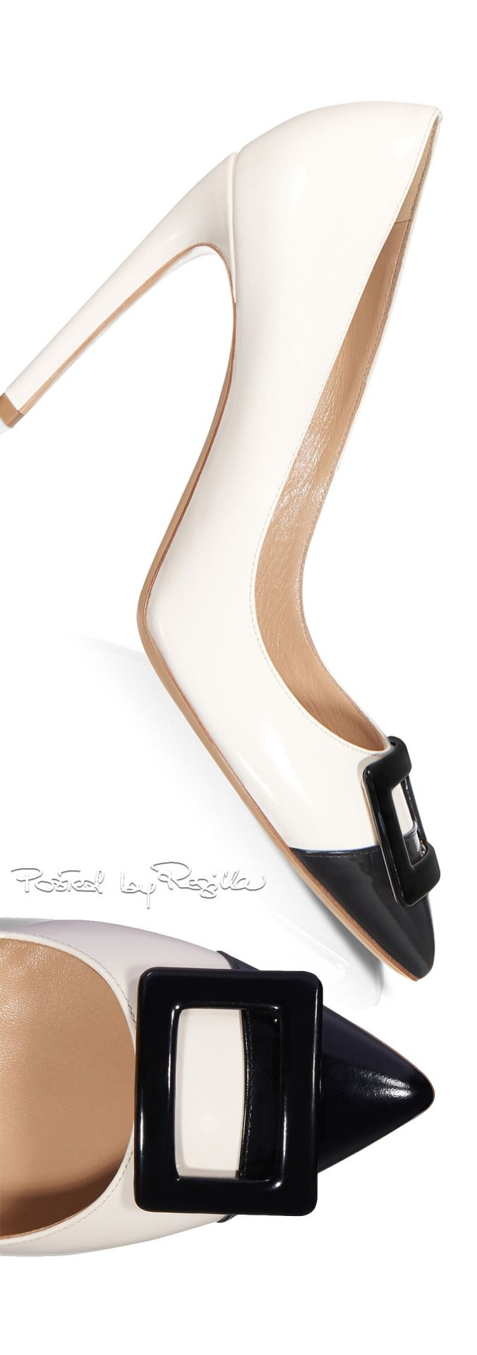 Roger Vivier ~ Spring Pumps, Black/White, 2015