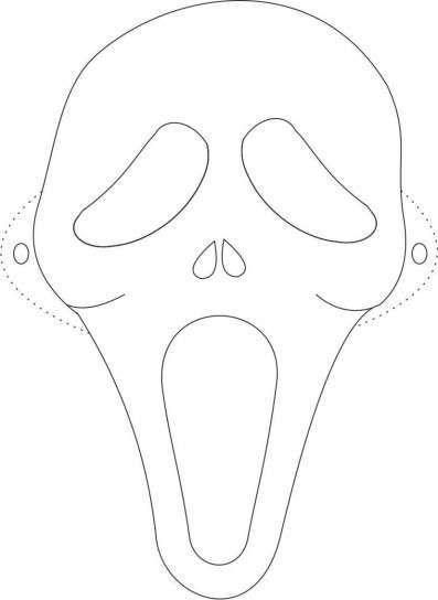 Fantasmas de Halloween: fotos dibujos para colorear - Máscaras de fantasmas para imprimir
