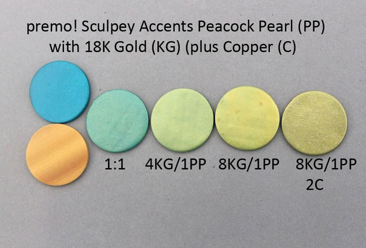 Premo! Color Recipes from Syndee Holt - Peacock Pearl, 18K Gold, Copper