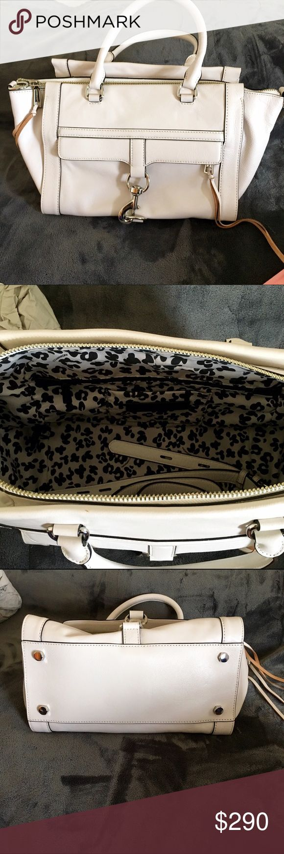 """Rebecca Minkoff 'Bowery' Satchel Fashion classics Bowery Satchel Blanco. In brand new condition. It hasn't left my closet. Looks small but is very roomy. The tiniest scuff on the top. Otherwise in brand new condition. 12""""W x 8.5""""H x 7""""D Rebecca Minkoff Bags Satchels"""