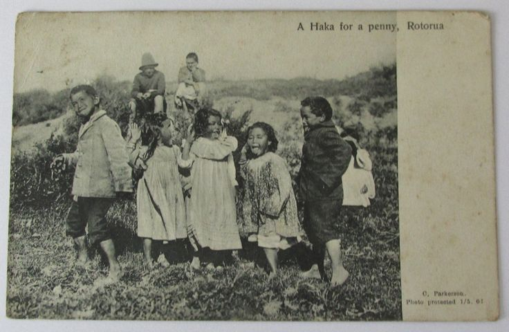 A Haka for a Penny , C. Parkinson , photo protected 1901 , used , posted 1908