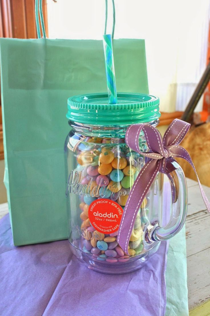 131 best gift ideas images on pinterest beautiful candy and gift mason jar cup with m ms negle Image collections
