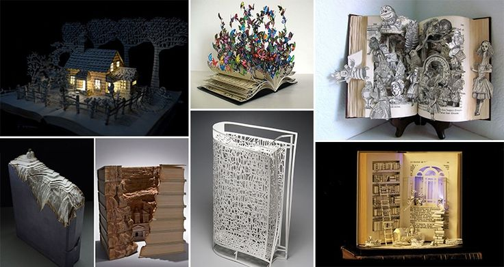 18 Incredible Pieces Of Book Art That Will Blow You Away