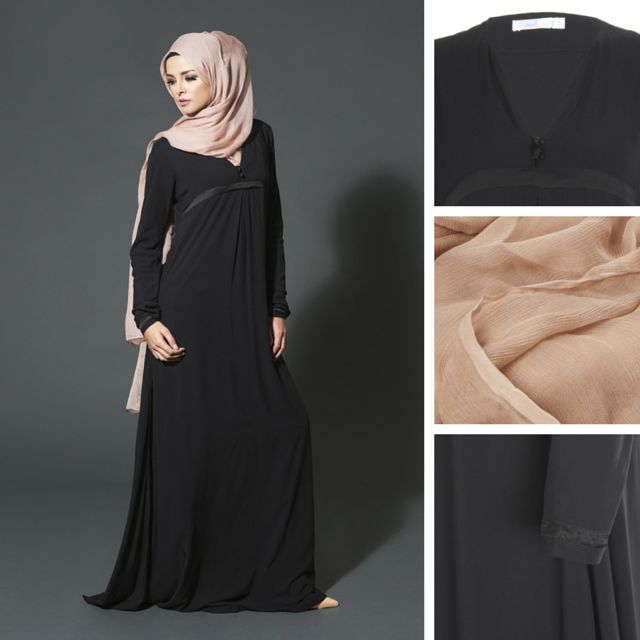OOLONG ABAYA - pair with dusty pink silk hijab