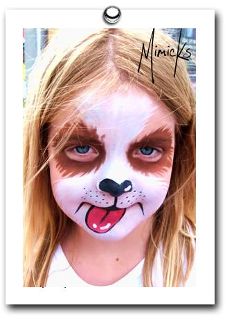 puppy dog face painting by mimicks face painting