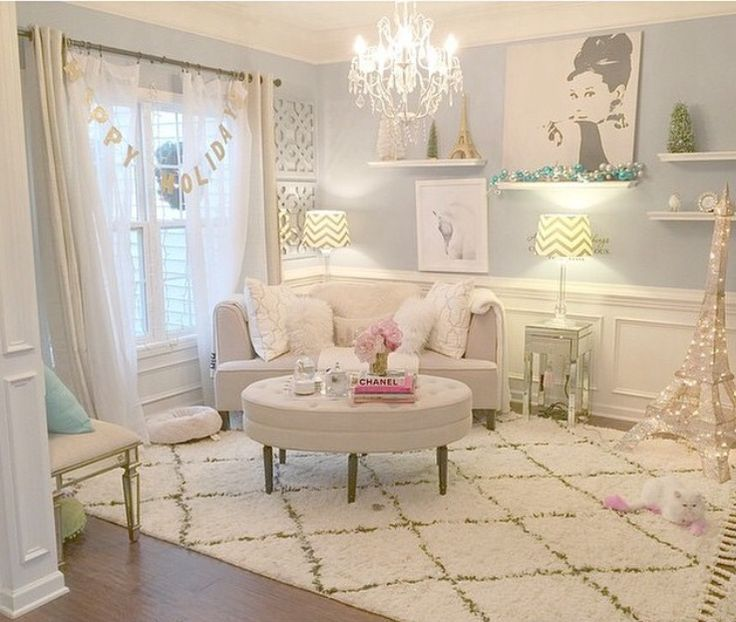 Girls Bedroom Curtains Elegant Bedroom Colors Bedroom Cabinet Door Designs Pinterest Bedrooms For Girls: Best 25+ Feminine Living Rooms Ideas Only On Pinterest