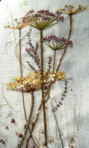 wild plants embroidery