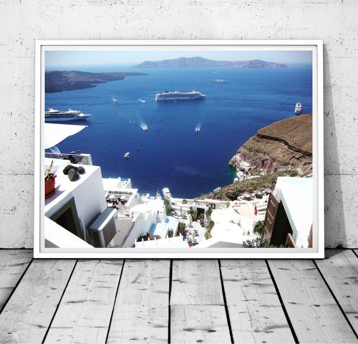 Santorini Print Greece photography Sea Print Mediterranean wall decor island Print Coastal Photography Santorini wall art digital print by S4StarSbySiSSy on Etsy https://www.etsy.com/ca/listing/293331437/santorini-print-greece-photography-sea