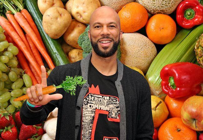 Rapper Common eats vegetables...