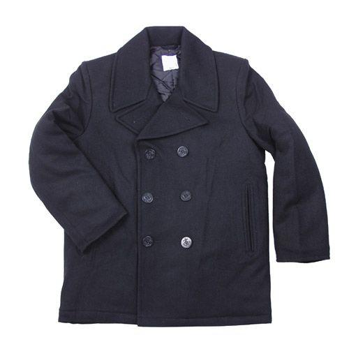 Giacca Pea Coat US Nero