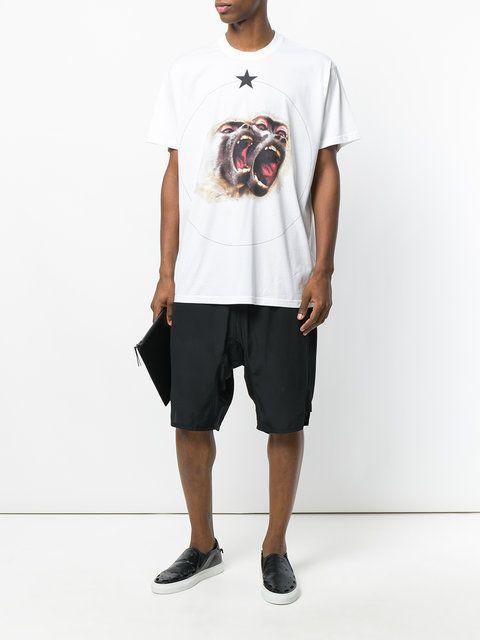 Givenchy T-shirt Oversize à Imprimé Graphique - Farfetch
