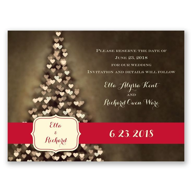 Fairytale Christmas Save the Date Cards - Merry Wedding