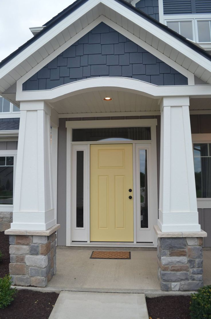Hawthorne Yellow by Benjamin Moore - the perfect yellow front door