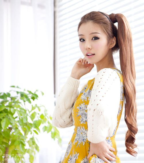 Loooooong Ponytail Asian Hairstyle Pinterest I