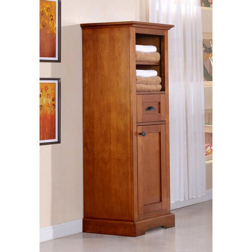 Magick woods 18quot wallace collection linen cabinet at for Menards bathroom wall cabinets