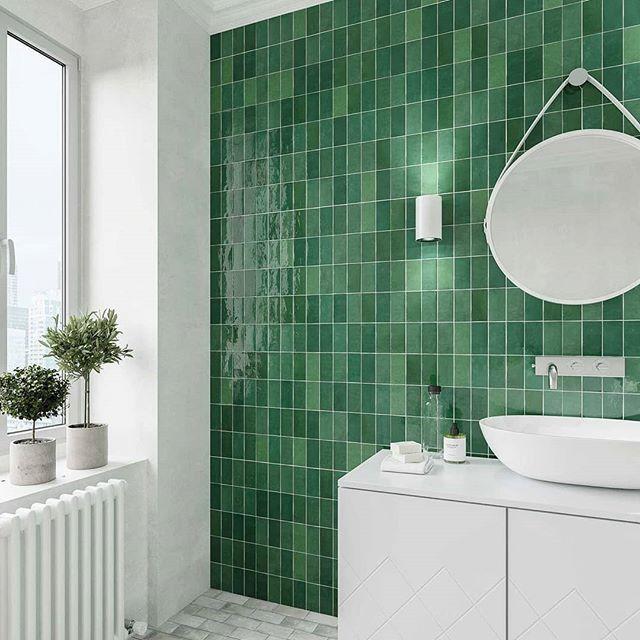 Emerald Fez Ceramic Wall Tile By Wow Gcthomas Specceramics Fez Wowdesigneu Green Bathroom Ceramic Wall Tiles Wall Tiles