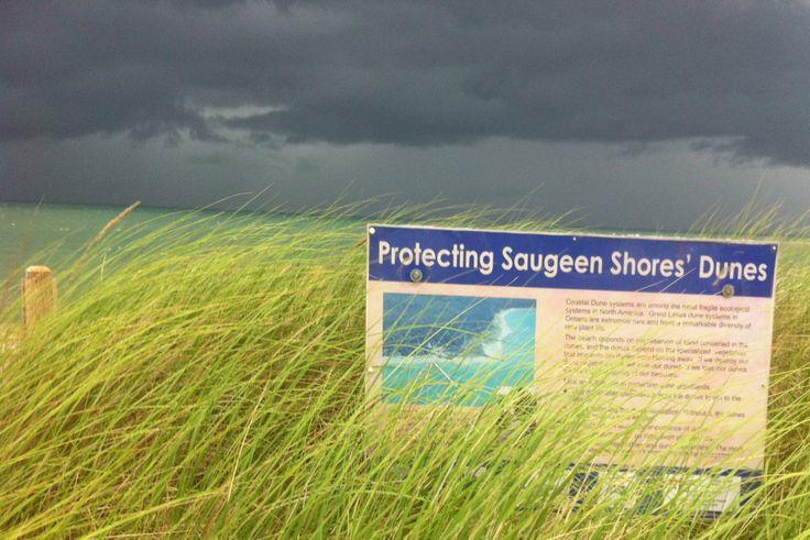 Southampton Ontario. Saugeen Shores. Approaching storm across Lake Huron