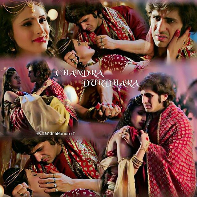 Good morning fans with #beautiful #romantic moments of #Chandur #RajjatTokas  @saanvitalwar9  #ChandraNandni @ekmainaurektu7