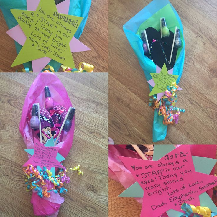 flip flop and nail polish bouquets for dance recital gift