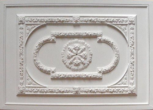 This ceiling panel uses my plaster mouldings, PAN4, CR25, SPB, CR14 and R3