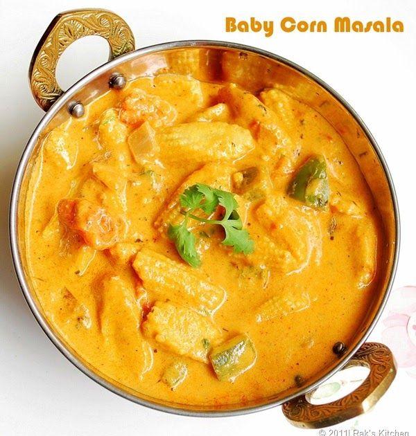 Baby corn masala recipe - Try this baby corn masala, a rich cashew based delicious gravy, perfect for roti, phulka, chapati and pulao.
