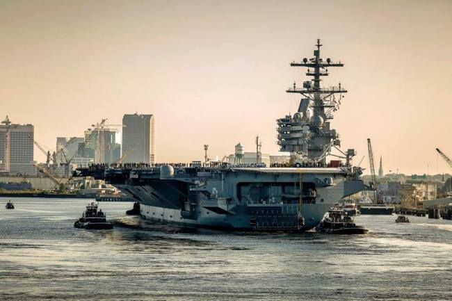 USS George H.W. Bush departs from Naval Station Norfolk | WAVY-TV