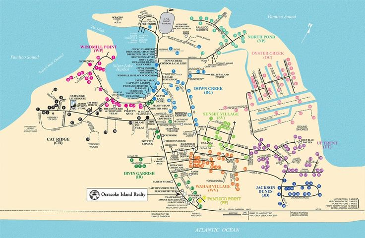 Ocracoke Island Realty Rental Map Places I Have Been