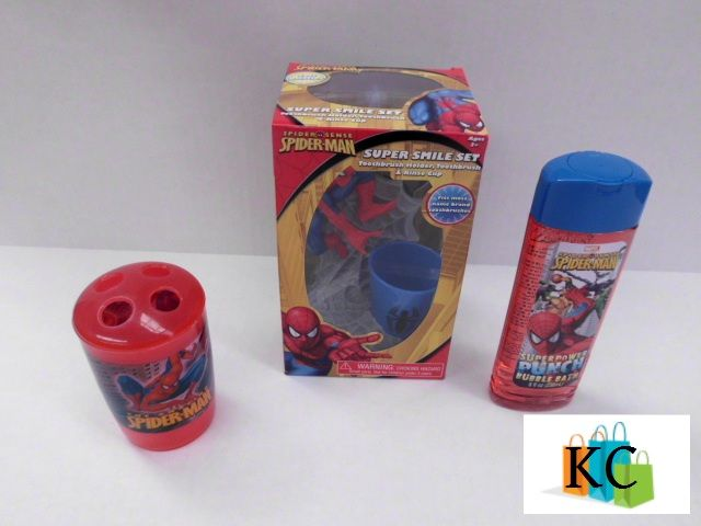 Spiderman Tooth brush holder, Tooth brush 3 piece, Body wash $32.60 Layby Welcome on All Sets.. $10 per week