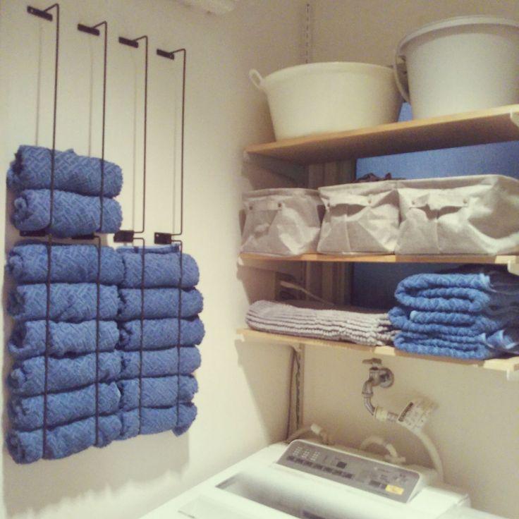Bathroom/タオル収納/狭小住宅/洗濯機上の棚のインテリア実例 - 2017-12-10 09:21:27   RoomClip (ルームクリップ)