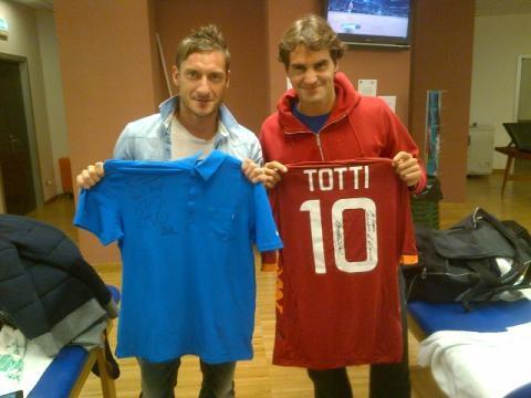 Francesco Totti & Roger Federer