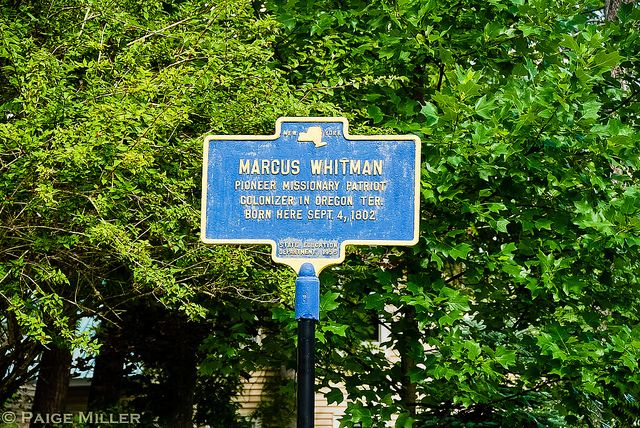 Marcus Whitman marker | Missionary who led the first wagon train on the Oregon Trail.