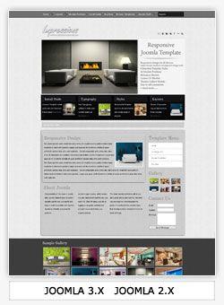 Joomla Template for interior design