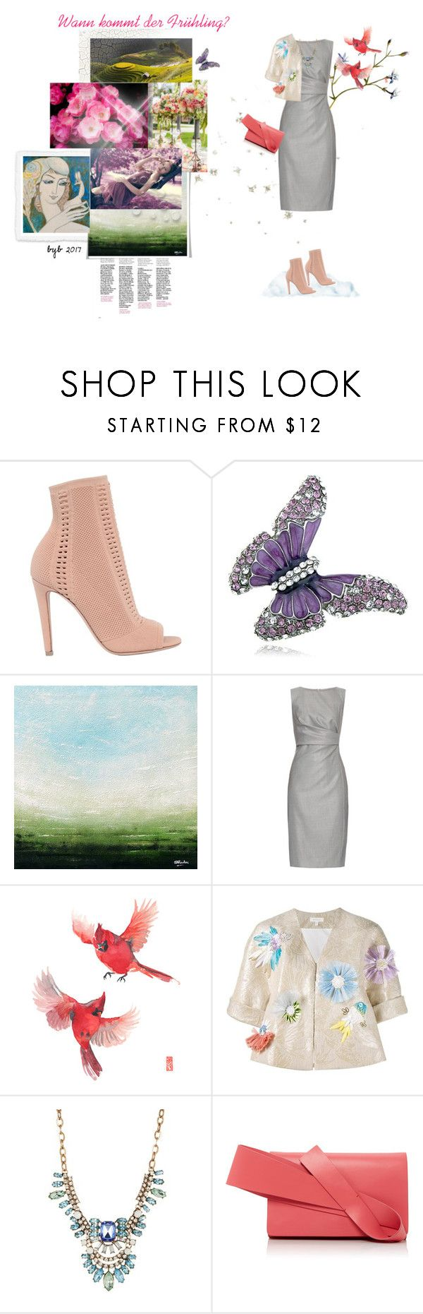 """""""Wann kommt der Frühling?"""" by hannover ❤ liked on Polyvore featuring Gianvito Rossi, MaxMara, Delpozo and Spring Street"""