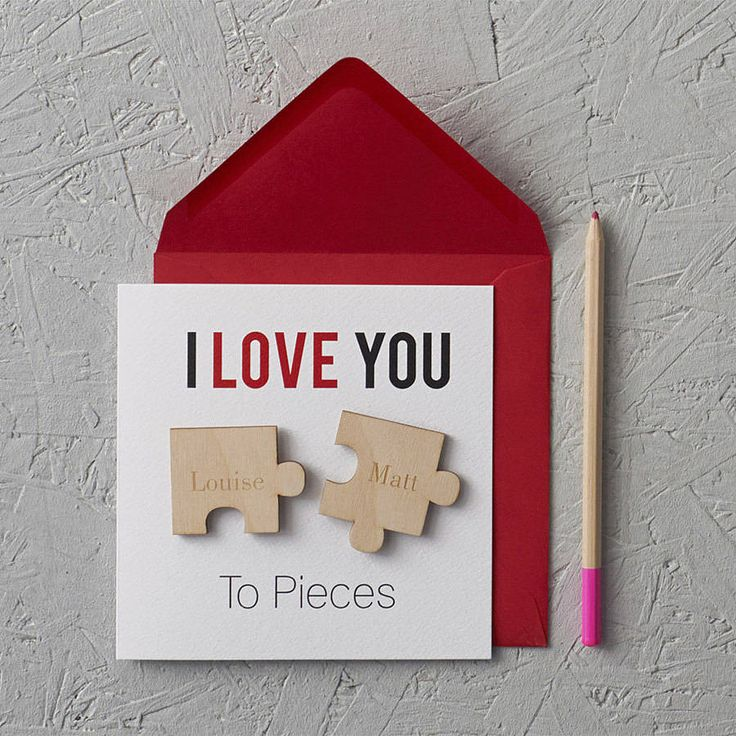 'i love you to pieces' valentine's day card by clouds and currents | notonthehighstreet.com