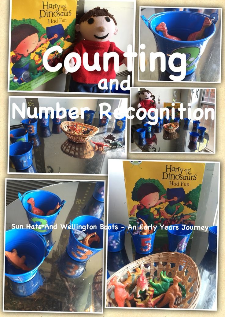 Counting and number recognition with Harry and the Dinosaurs.