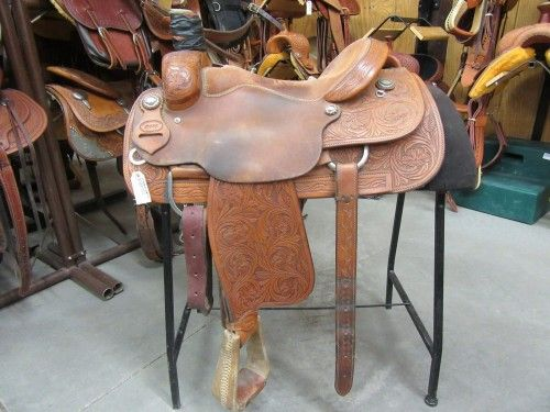 DHS Team Roping Saddle for Sale - For more information click on the image or see ad # 55126 on www.RanchWorldAds.com