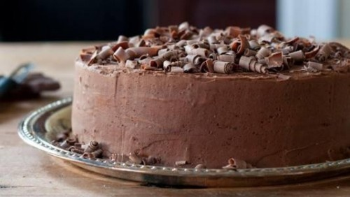 Cappuccino Chocolate Layer Cake with Mocha Frosting