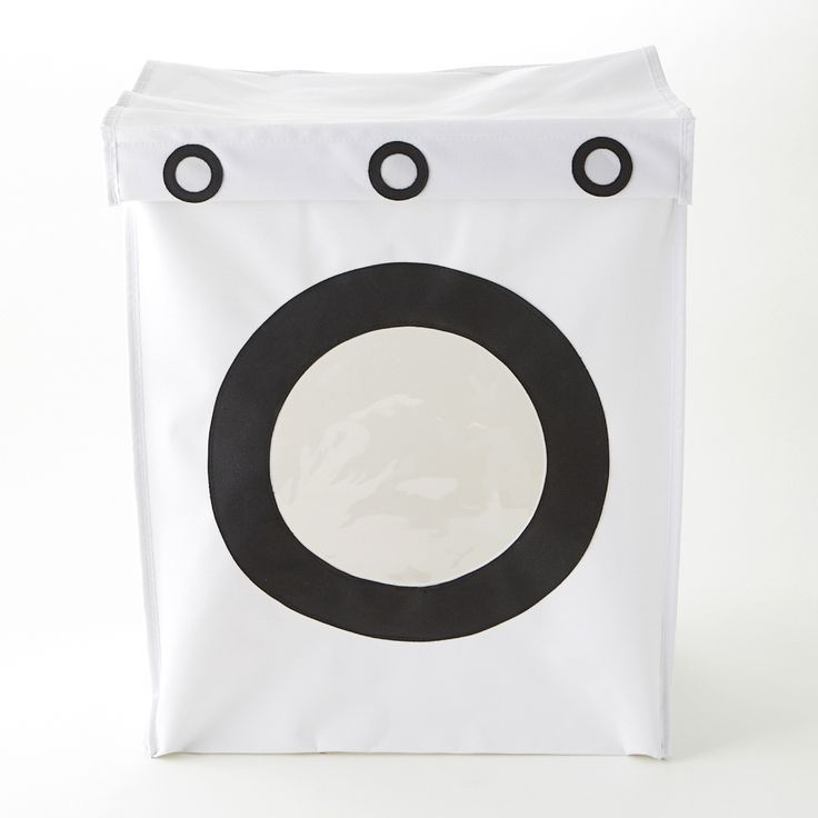 """Take your laundry room on a trip! While they're waiting for their turn in the wash, hide away al those dirty clothes inside this super quirky Washing Machine Clothes Hamper. Makes a cute and unique addition to your bedroom or bathroom decor. Material: 100% Polyester Fabric Packaging: Flat Packed Size: 17.5""""L x 12""""W x 21""""H"""