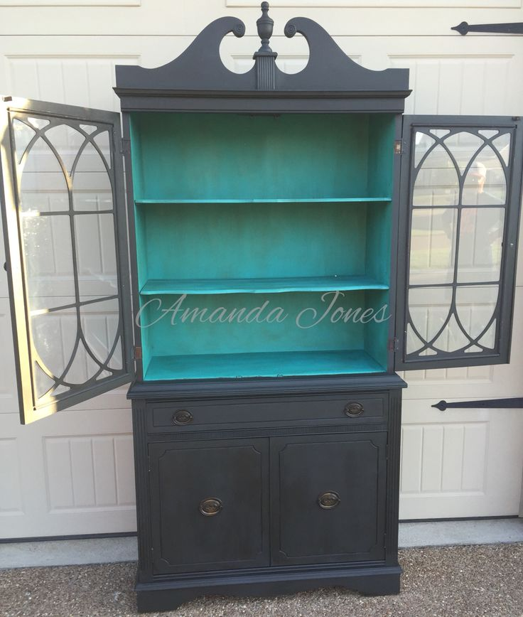 Hutch Makeover Before And After Dark Wax