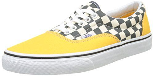 Vans Yellow And Blue Checkered Era Tm Core Classics Vans Sneakers Fashion Vans Old Skool Sneaker