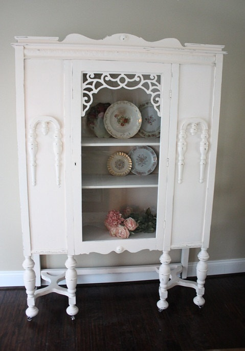 antique shabby chic furniture china cabinet by tootyb on etsy old stuff i like. Black Bedroom Furniture Sets. Home Design Ideas