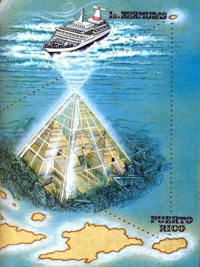 JOJO POST STAR GATES: Bermuda Triangle. Giant Crystal Pyramid Discovered In Bermuda Triangle - It is larger than the ones in Egypt. It is also believed that further study of this pyramid could confirm what some engineers believe about pyraminds in that they were originally designed and created as massive power sources.