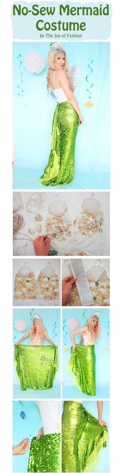 No Sew Homemade Mermaid Costume. Click through for tutorial