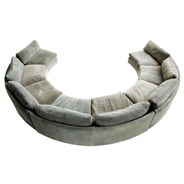Curved Sofa Atlanta: Milo Baughman Sectional Sofa