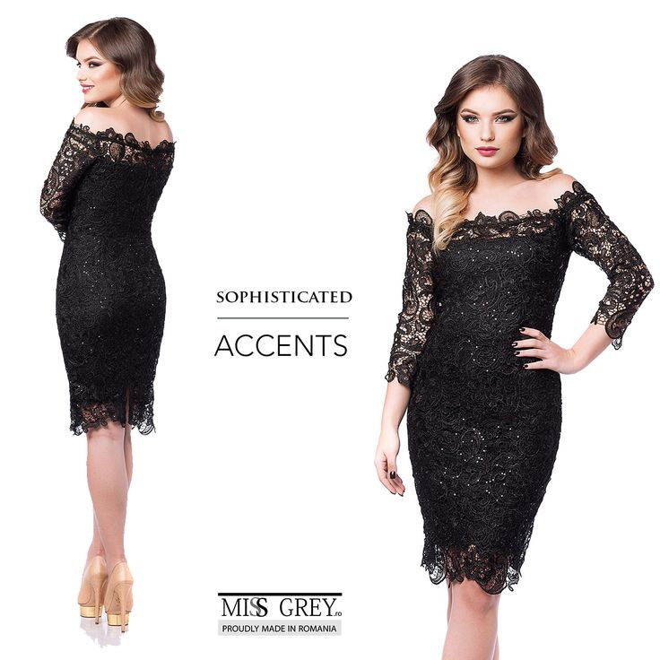 Choose a black dress with a design especially imagined to highlight your body lines and show your feminine side