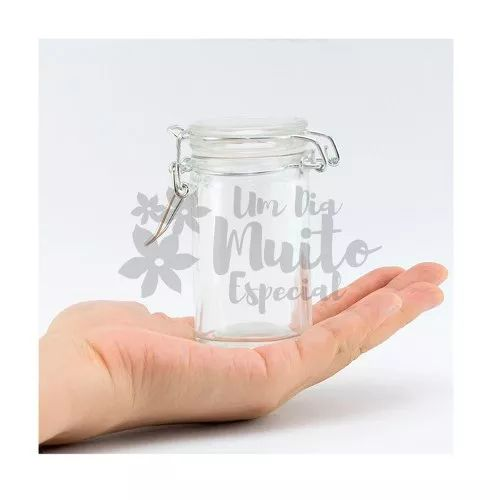 15 potes de vidro herméticos hermético 50 ml doce doces bolo